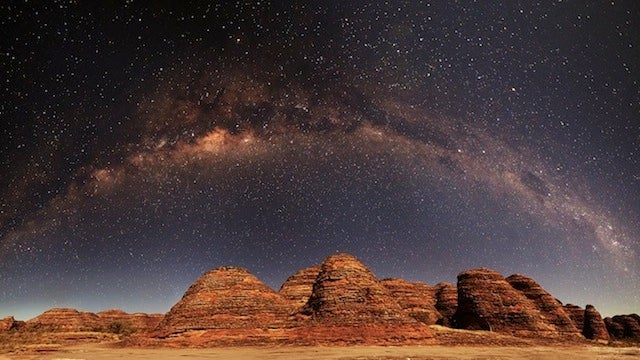 Marvel at the majestic Milky Way stretching over Australia's Bungle Bungles