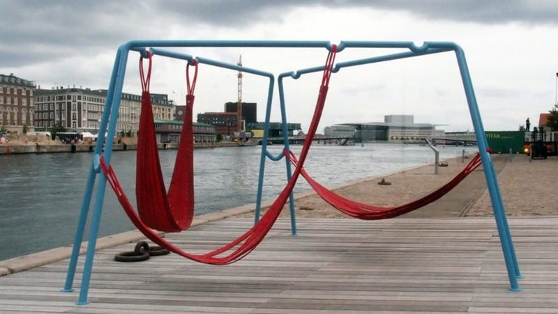 Adjustable Firehose Swings Turn the World Into a Playground