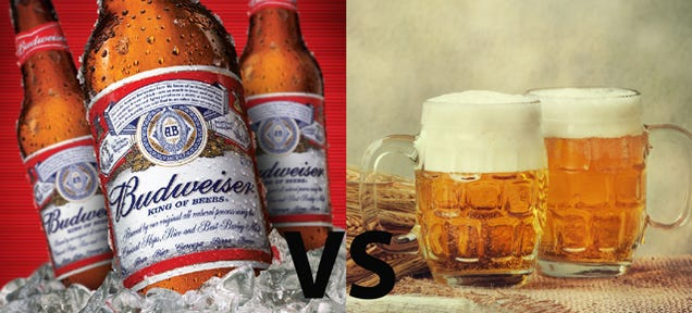 The Differences Between a Budweiser and a Craft Brew (In GIFs)