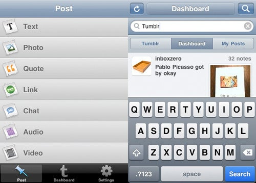 Official Tumblr iPhone App Now Supports iOS4 and Twitter