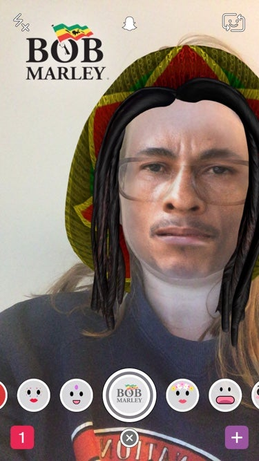 Snapchat's Offensive 'Bob Marley' Filter Gives You Instant Blackface