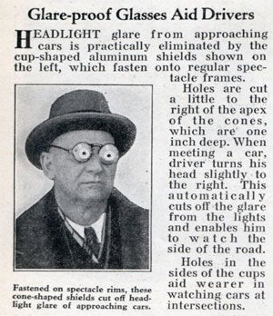 Glare-proof Glasses From 1932