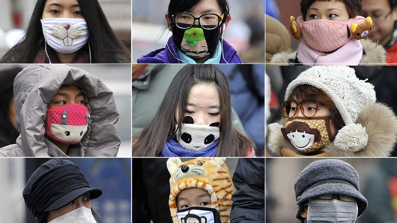 In China, Cute Masks Combat Ugly Pollution