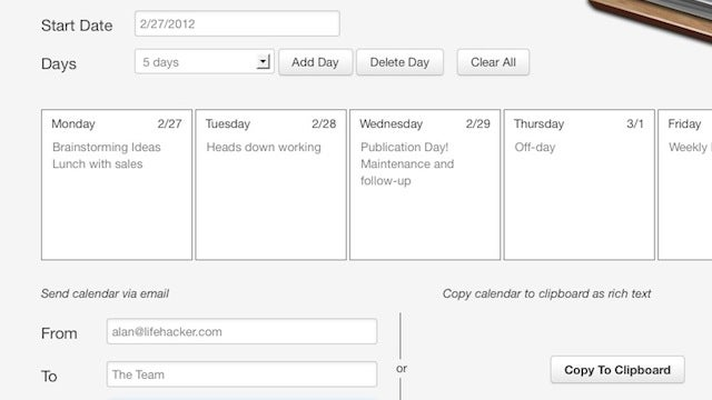 Short Calendar Makes Calendars and Agendas Easy to Read and Share