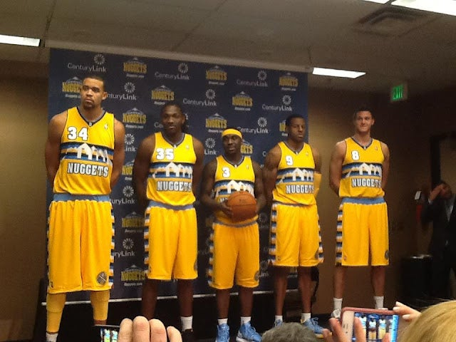 The Denver Nuggets Unveiled New Alternate Jerseys In Your Local Business Park Conference Room