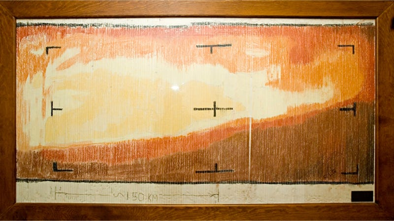 First TV Image of Mars Ever Was Made With Crayons