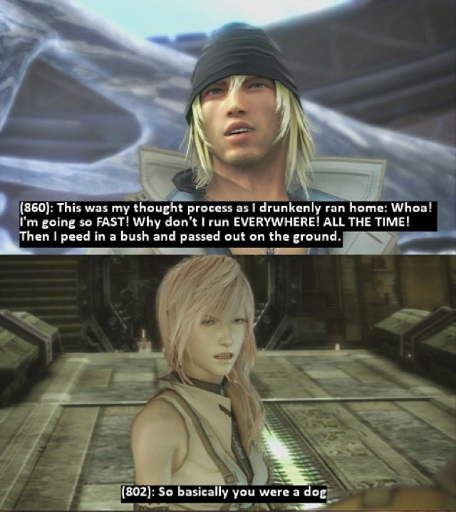 It's Final Fantasy XIII, But with Drunken Sex Talk