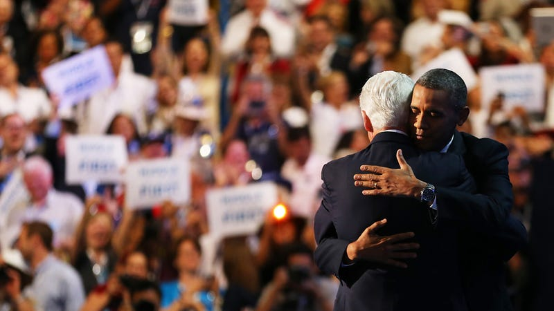 The Hug Is Never Just a Hug: Bill and Barack Are Perfectly Physical