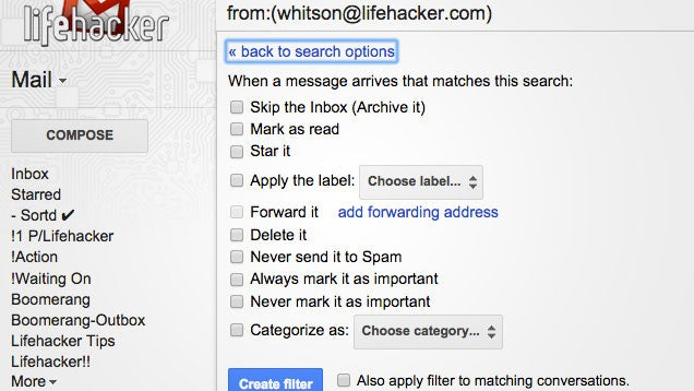 Forward and Filter Email to Use Google Now with Multiple Accounts