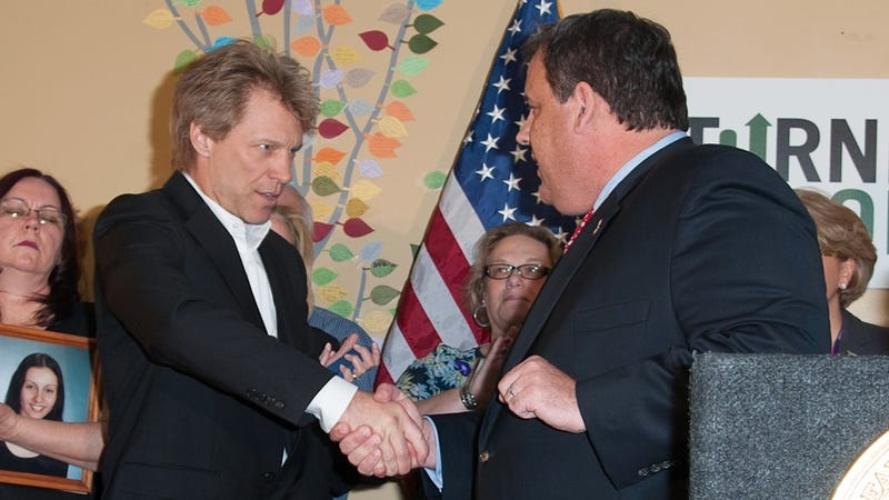 Bon Jovi and Chris Christie Have a Friendly New Jersey Staring Contest
