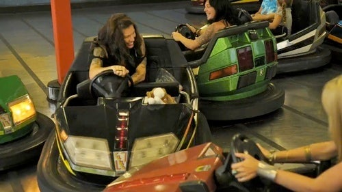 Pretty Girls In Bumper Cars!