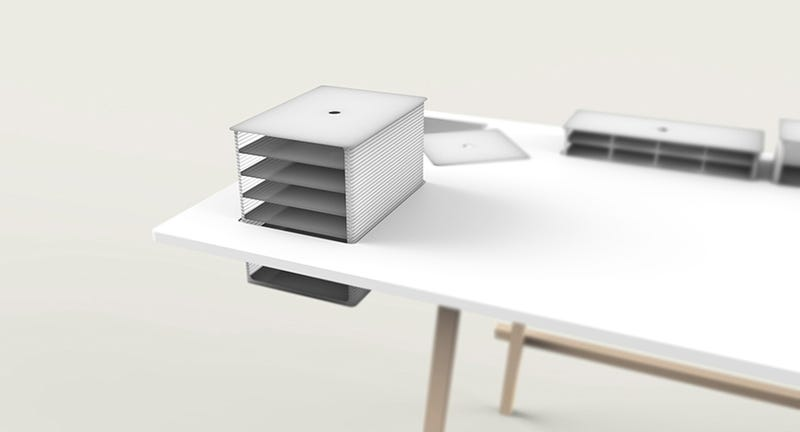 A Co-Working Table With Hidden Depths
