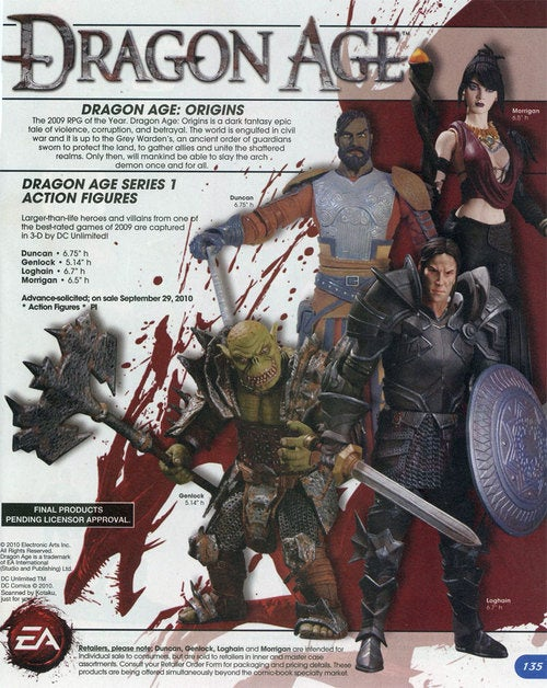 Dragon Age Action Figures Will Probably Look Like This