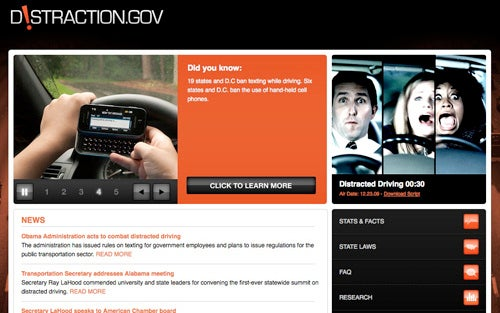 DOT Unveils Anti-Distracted-Driving Website, We Lose Focus During Process