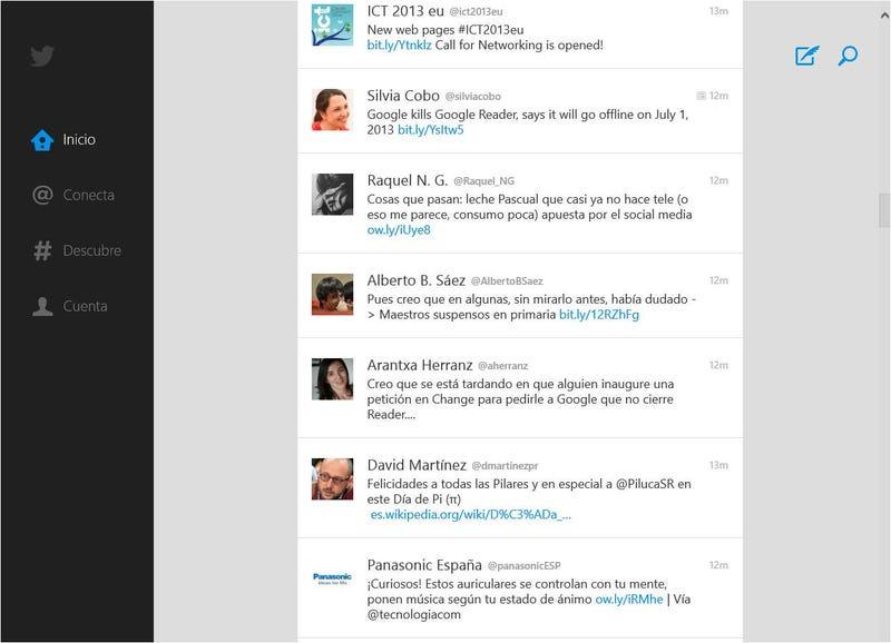 Twitter, por fin, publica su aplicación para Windows 8
