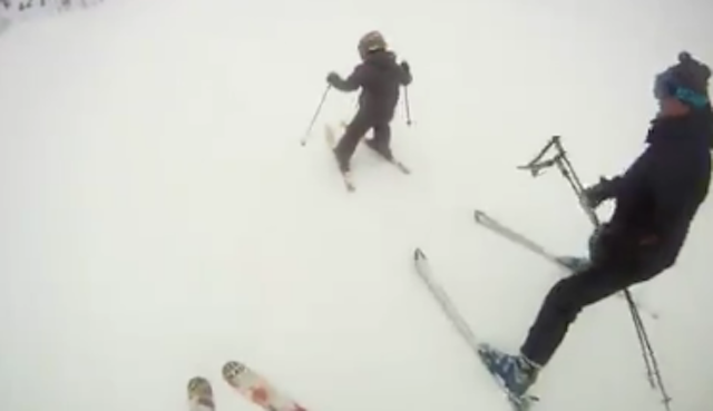 'PIZZA, BRO! DO THE PIZZA': Is This Ski Bro Flinging a Child Down a Mountain Doing It Right or Wrong?