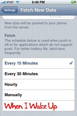 iPhone OS 2.1 Won't Fetch Emails in Sleep Mode