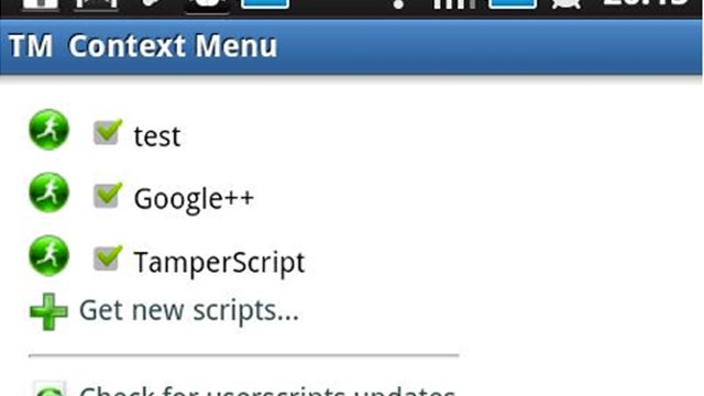 TamperMonkey Brings GreaseMonkey Scripts to Android