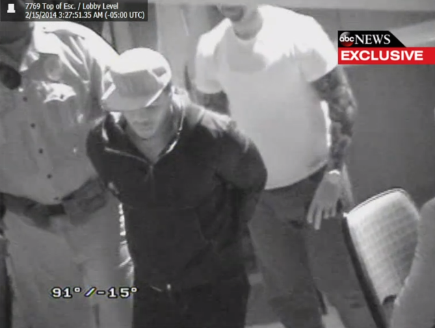 New Surveillance Video Shows Ray Rice Handcuffed And Emotional