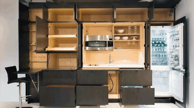 These Cabinets Hide an Incredible Stealth Kitchen