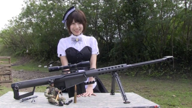 This Lady Cosplays in Cute Outfits and Then Shoots Deadly Assault Rifles
