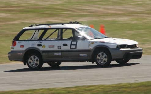 Yes, That's A Subaru Outback On The Track!