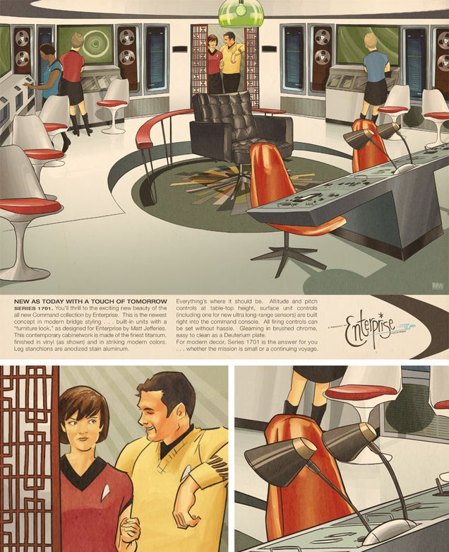 The Starship Enterprise Looks Great Decked Out In Midcentury Design
