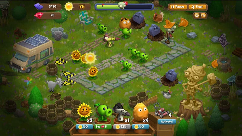 A Mutant Crop Of Plants Vs. Zombies Blooms On Facebook