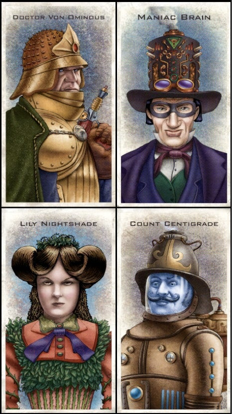 What if Bane, MODOK, and Dr. Doom were steampunk rapscallions?