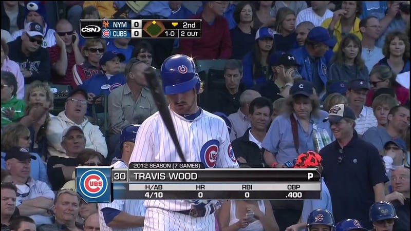 Now Batting, Travis Wood Of The Chicago Ubs