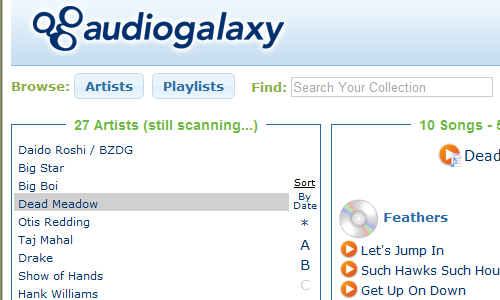 Audiogalaxy Makes Streaming Music from Your Desktop Dead Simple