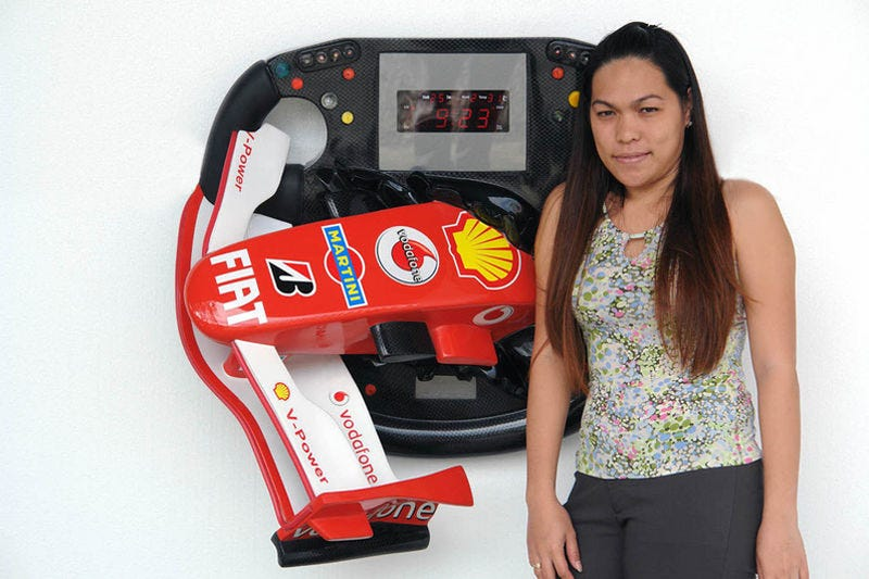 F1 Steering Wheel/Nose Cone Clock Makes Us Question Religious Beliefs
