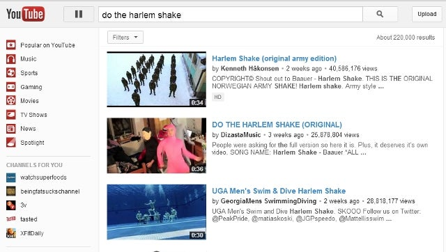 YouTube Manages to Revive the Harlem Shake for a Moment with This Nifty Easter Egg