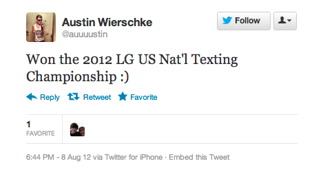 17-Year-Old Speed-Texting Champion Does it Drrrty (UPDATED)