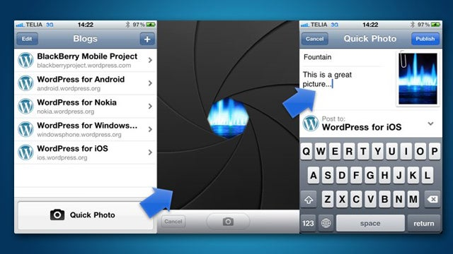 WordPress Makes Blogging from Your iPhone Snazzy