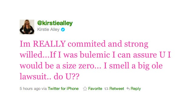 Kirstie Alley Is Not Bulimic