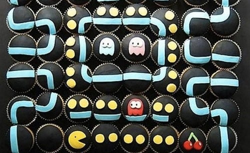 Pac-Man Cupcakes Are Made For Chomping