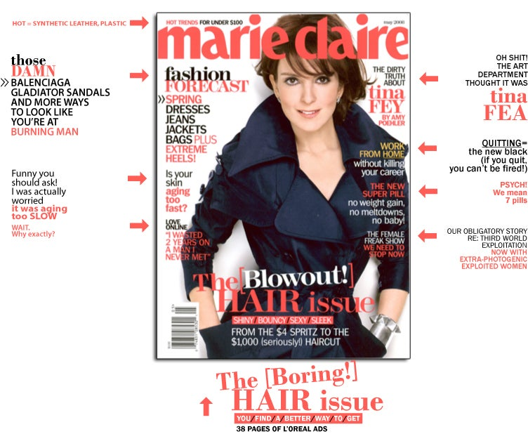 Marie Claire Tina Fey Cover, Or Marie Claire Tina Fey Cadaver?