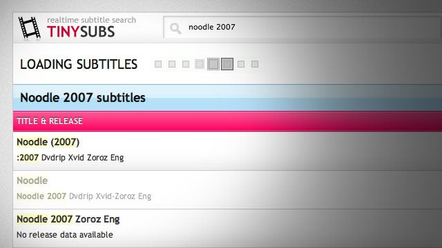 TinySubs Is Instant Search for Movie Subtitles