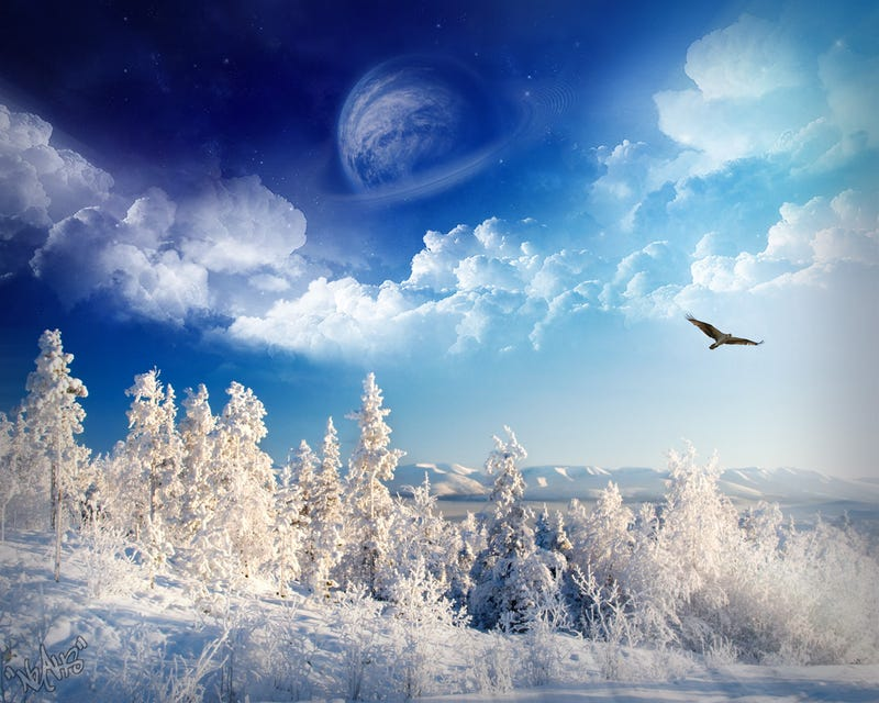 Wallpaper Roundup: Abstract Ice and Snowy Scenes