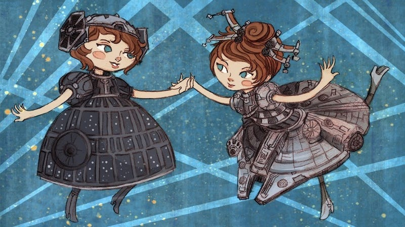 Fancy girls dress up as Droids, Daleks, and Death Stars