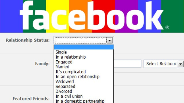 Facebook Officially Recognizes The Rainbow of Gay Relationships
