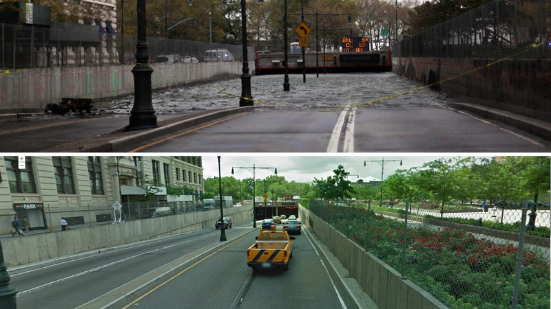 Brooklyn Battery Underpass: Compare with Google Street View