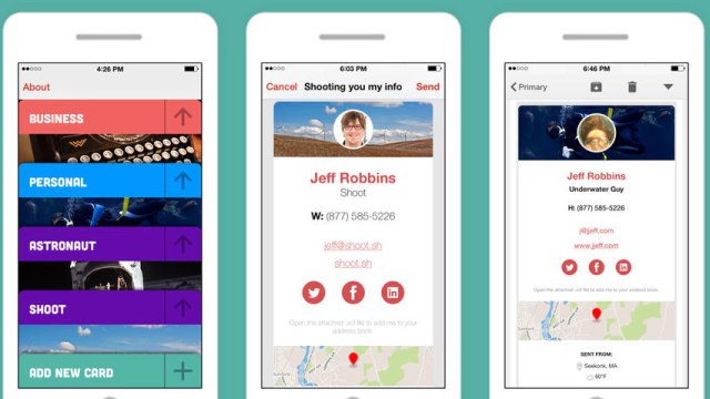 Shoot Shares Rich Contact Cards via Email to Boost Networking