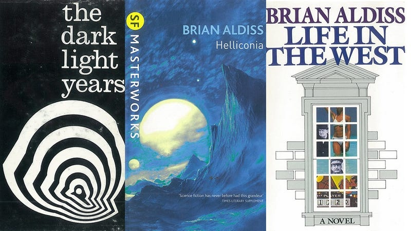 Legendary author Brian Aldiss reflects on years of strange book covers
