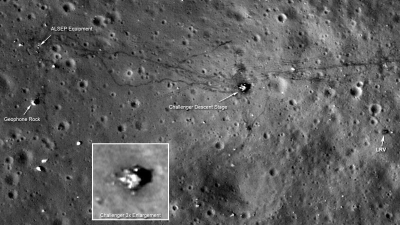 The Apollo 17 landing site, 39 years later