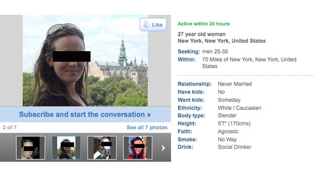 The Lies Everyone Tells on Dating Sites