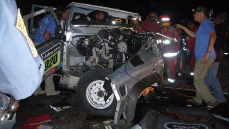 Two Killed After Dakar Rally Vehicle Slams Into Taxi In Peru (Updated)