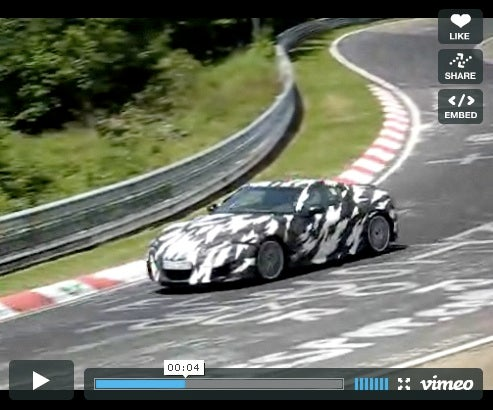 2010 Acura NSX Screams Around The 'Ring