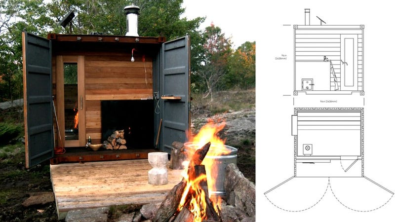 A Portable Shipping Container Sauna Is the Ultimate Stress Toy